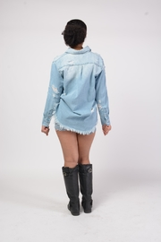 MODChic Couture Destroyed Denim Jacket - Side cropped