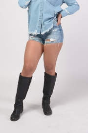 MODChic Couture Destroyed Denim Shorts - Product Mini Image