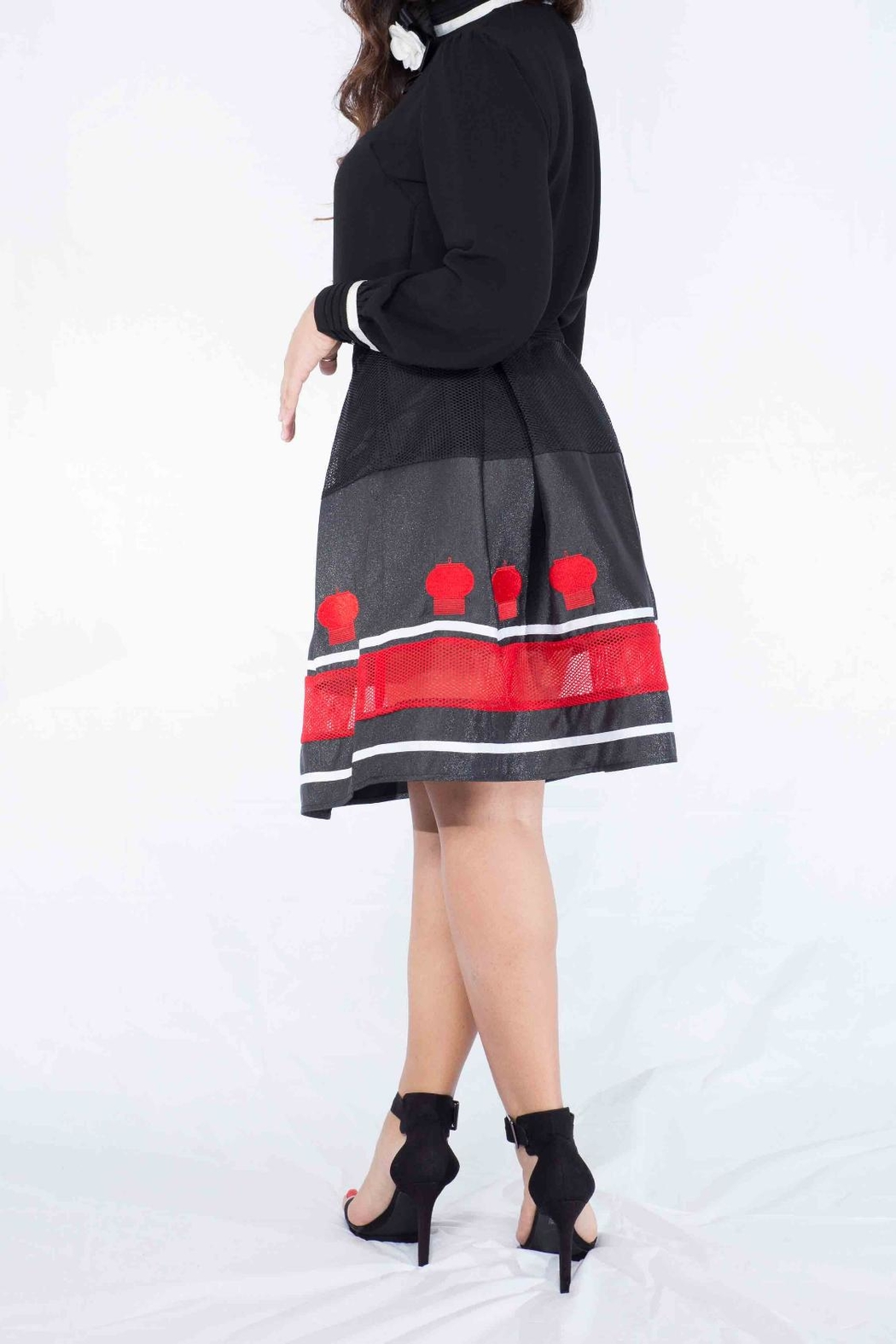 MODChic Couture Flared Lantern Skirt - Front Full Image