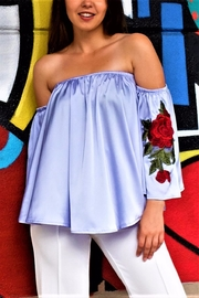 MODChic Couture Floral Patch Top - Product Mini Image