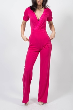 MODChic Couture Electric Pink Jumpsuit - Alternate List Image