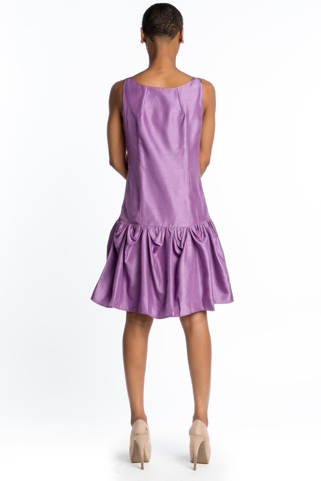 MODChic Couture Gelishe Drop Waist Dress - Front Full Image