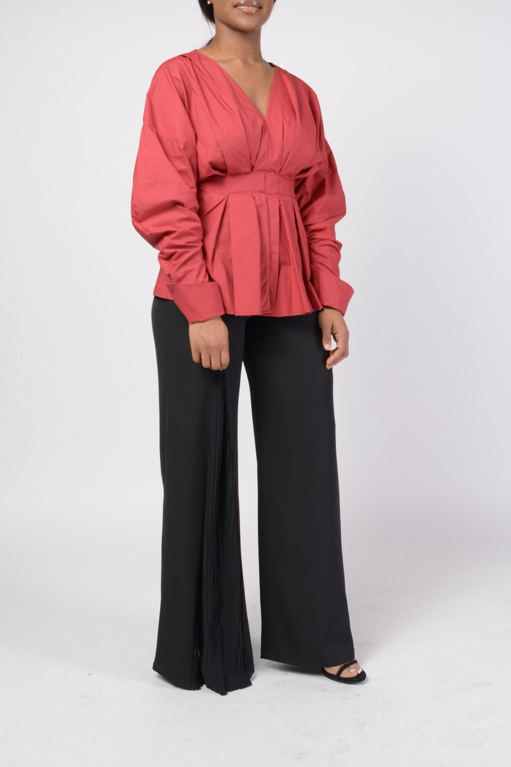 MODChic Couture Hayden Peplum Top - Side Cropped Image