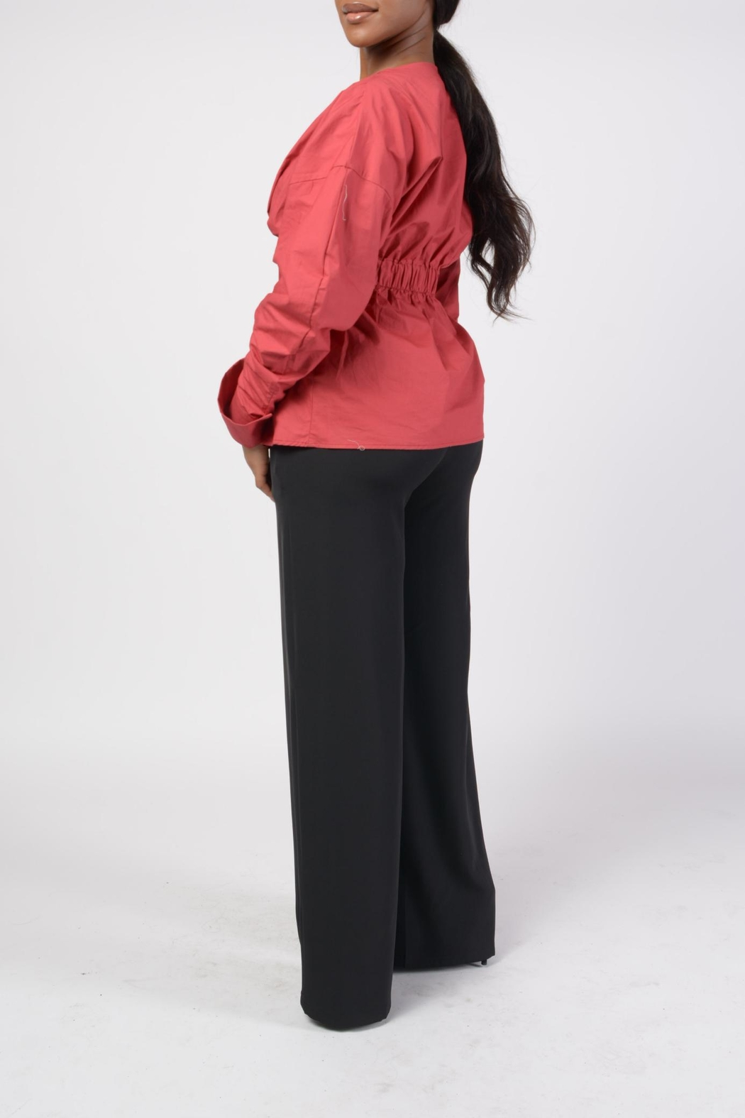 MODChic Couture Hayden Peplum Top - Back Cropped Image