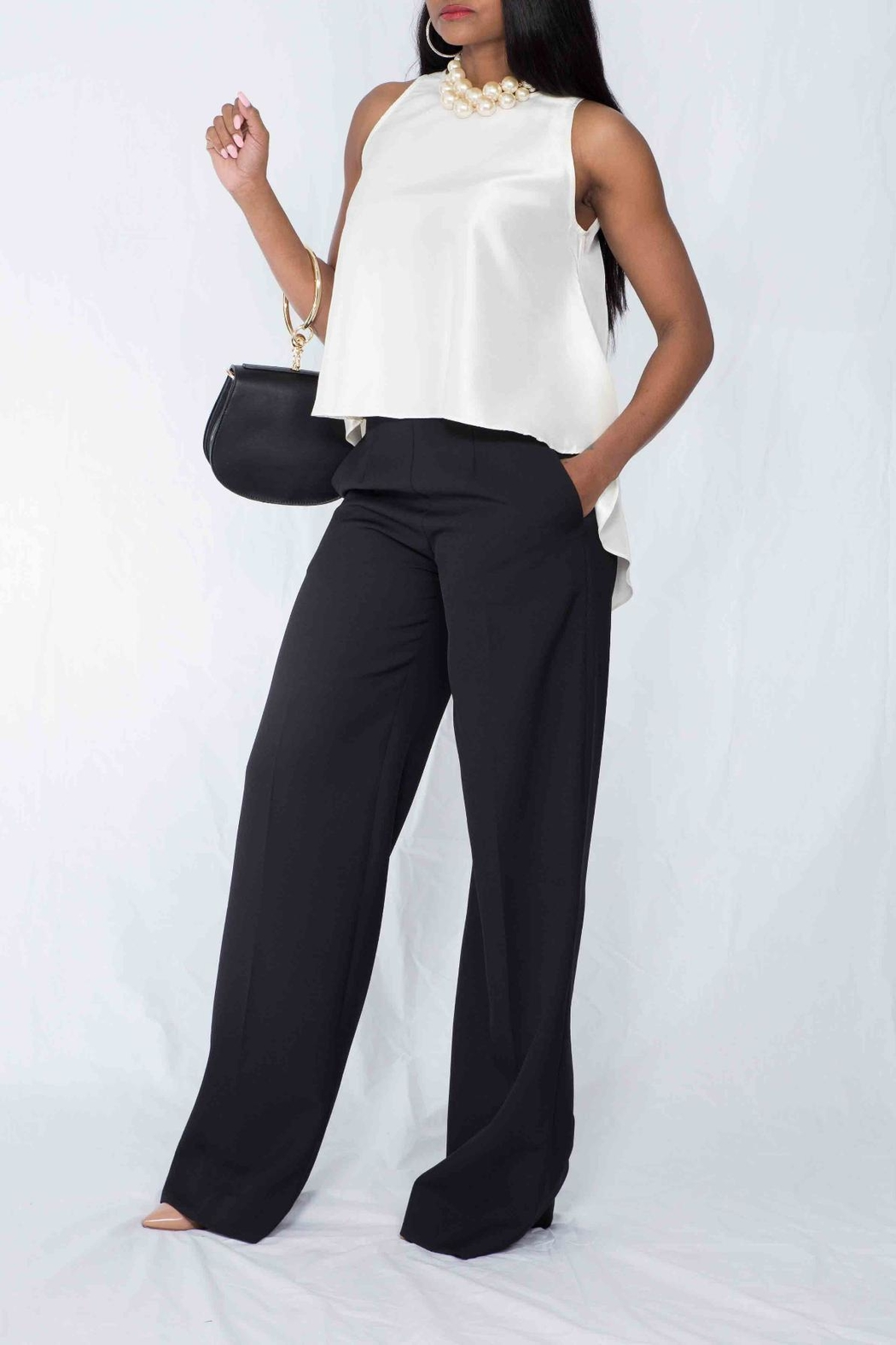 MODChic Couture Jane Flare Blouse - Front Full Image