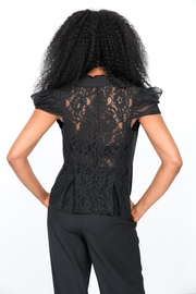 MODChic Couture Lace Waist Blazer - Front full body