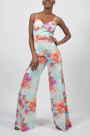 MODChic Couture Abstract Floral Jumpsuit - Front cropped
