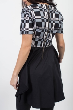 MODChic Couture Black Mod Ankara Top - Alternate List Image