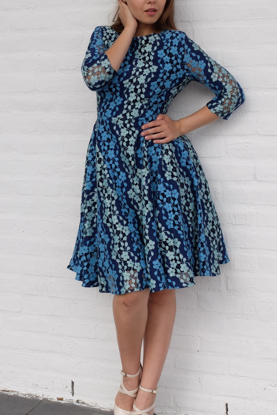 MODChic Couture Modspring Swing Dress - Front Full Image