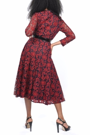 MODChic Couture Red Lace Dress - Front full body