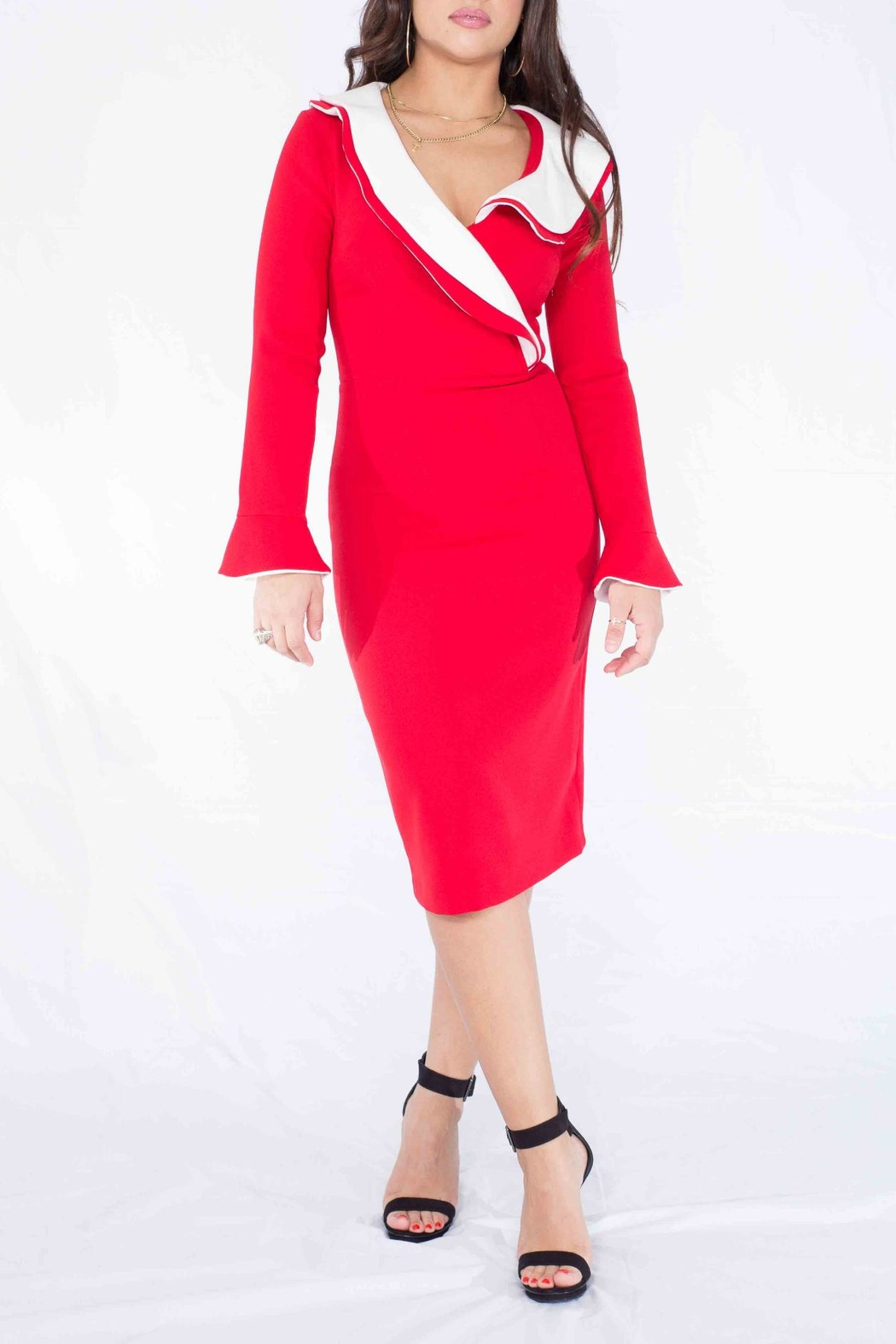 MODChic Couture Santababy Holiday Dress - Back Cropped Image