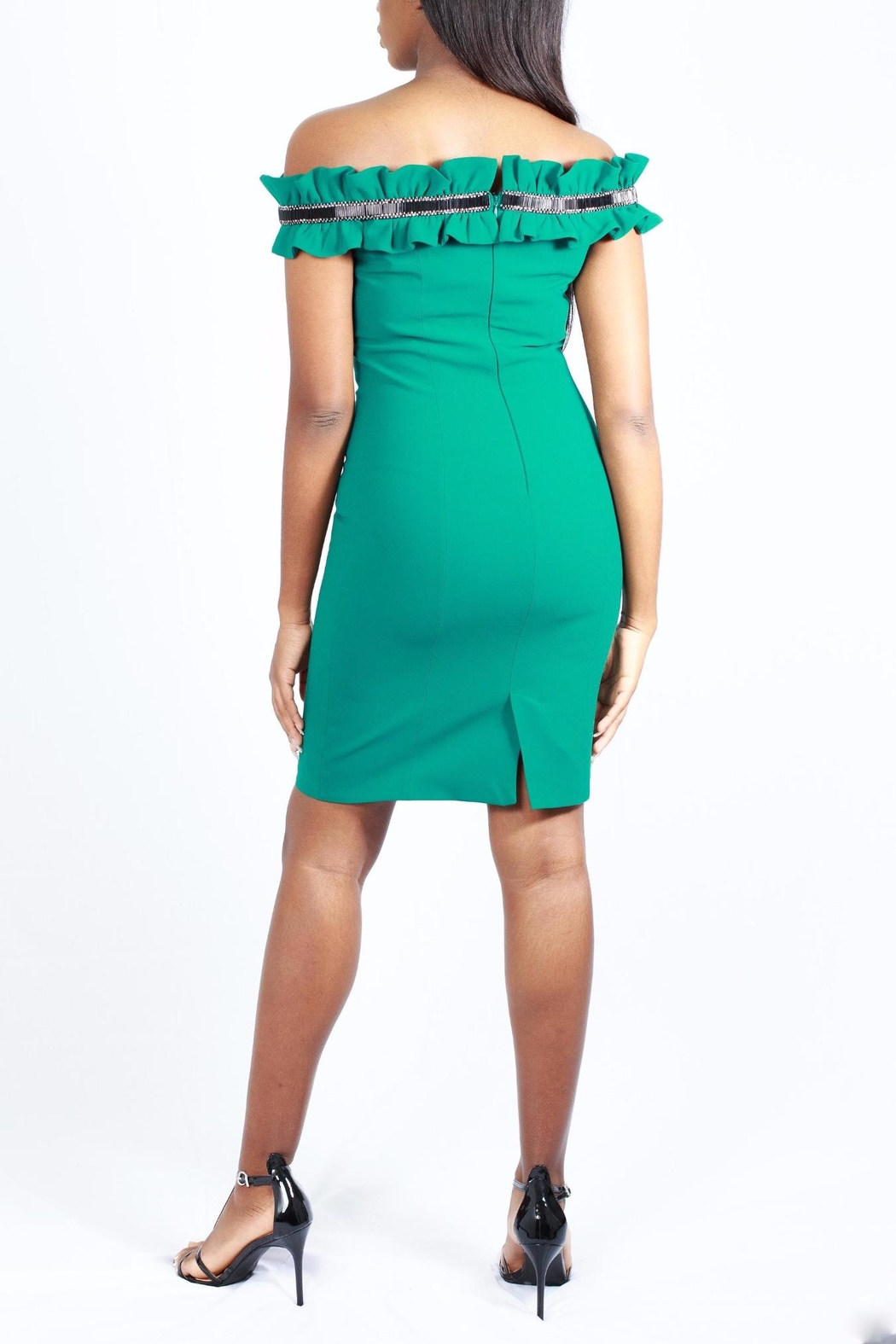MODChic Couture Setra Ruffle Dress - Front Full Image