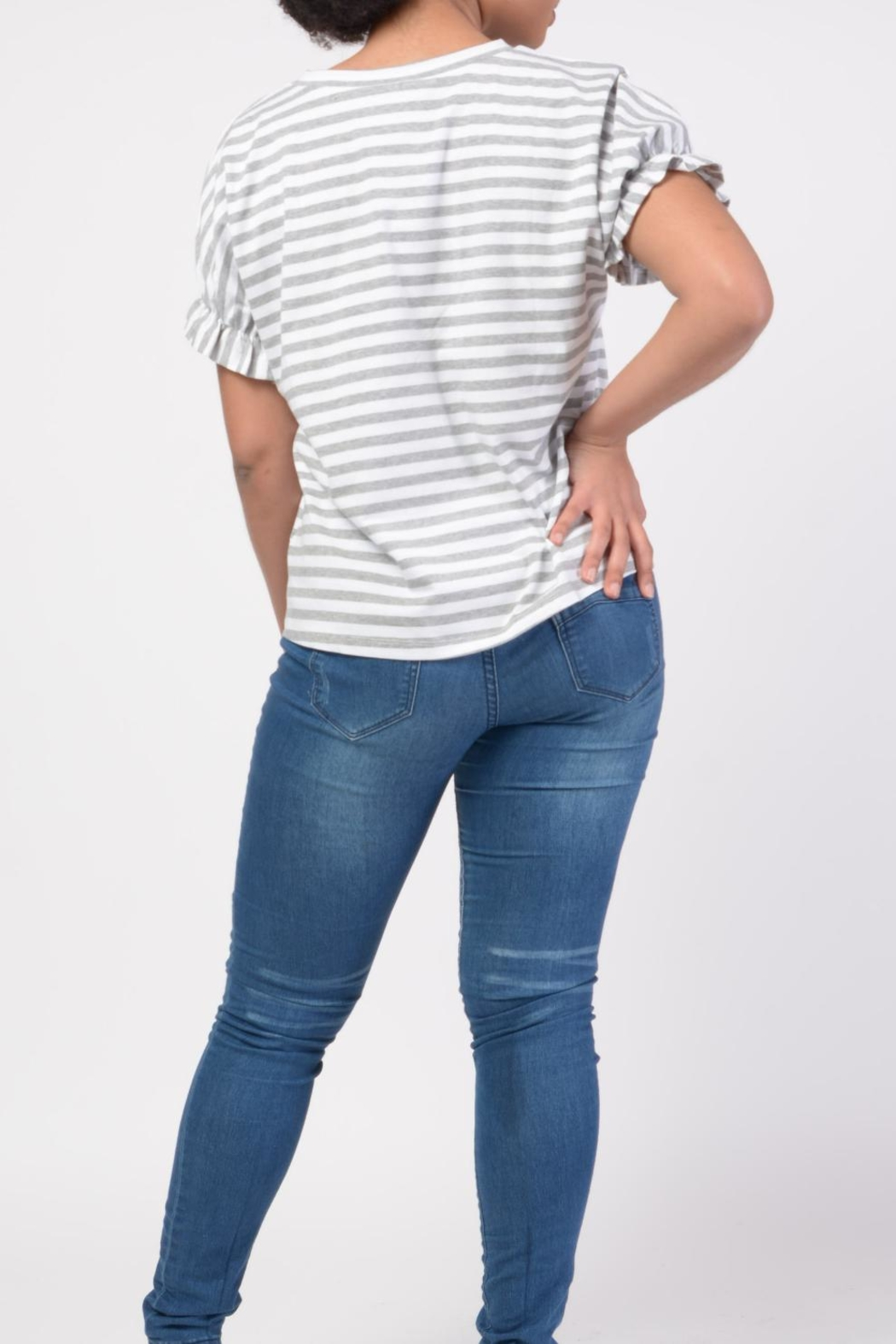 MODChic Couture Striped Basic Tee - Side Cropped Image