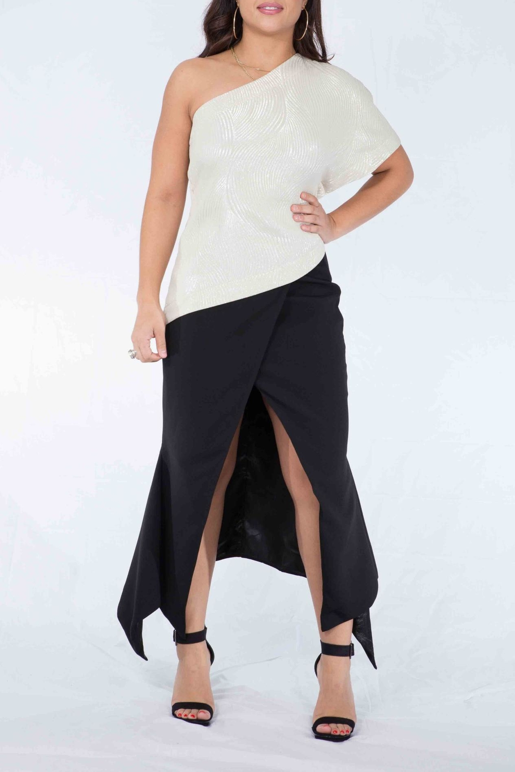 MODChic Couture Taylor Glam Top - Side Cropped Image