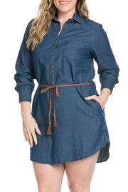 Model in a Bottle Chic Denim Dress - Product Mini Image