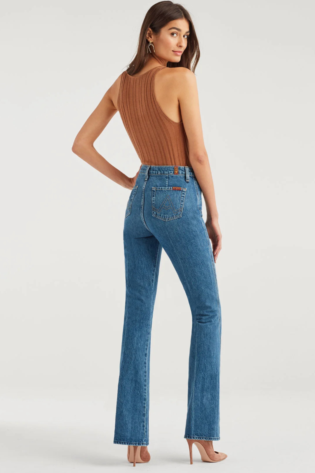 7 For all Mankind Modern A Pocket Jeans - Side Cropped Image
