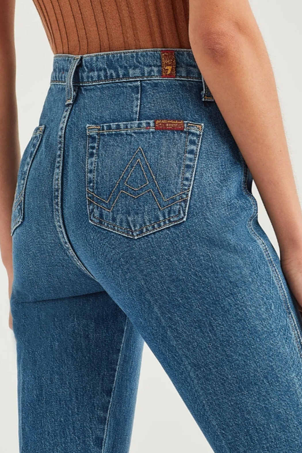 7 For all Mankind Modern A Pocket Jeans - Back Cropped Image