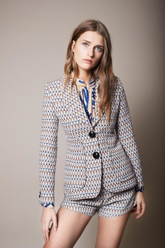 Smythe Modern Checkered Blazer - Product List Image