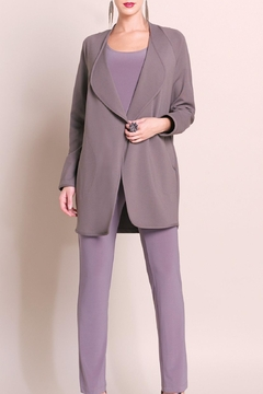 Shoptiques Product: Modern Duster Taupe-Grey
