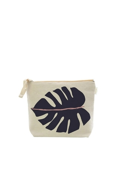 Soha Living Modern Monstera Cosmetic Bag-Sm - Alternate List Image