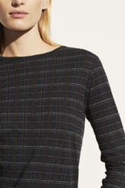 Vince Modern Plaid Crew - Side cropped