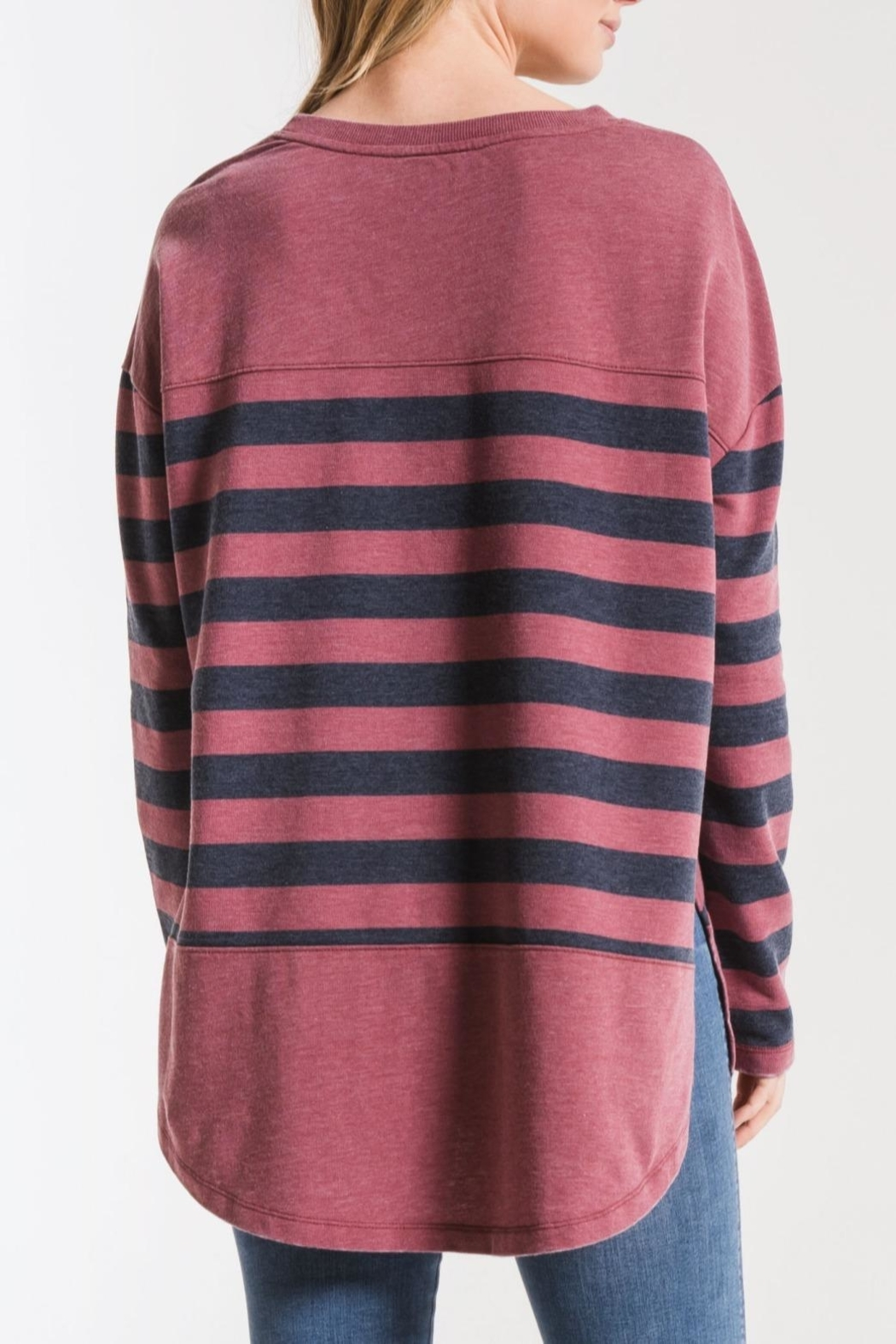 z supply Modern Stripe Crew - Front Full Image