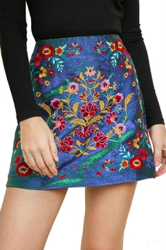 Modern Emporium Floral Embroidered Skirt - Product List Image