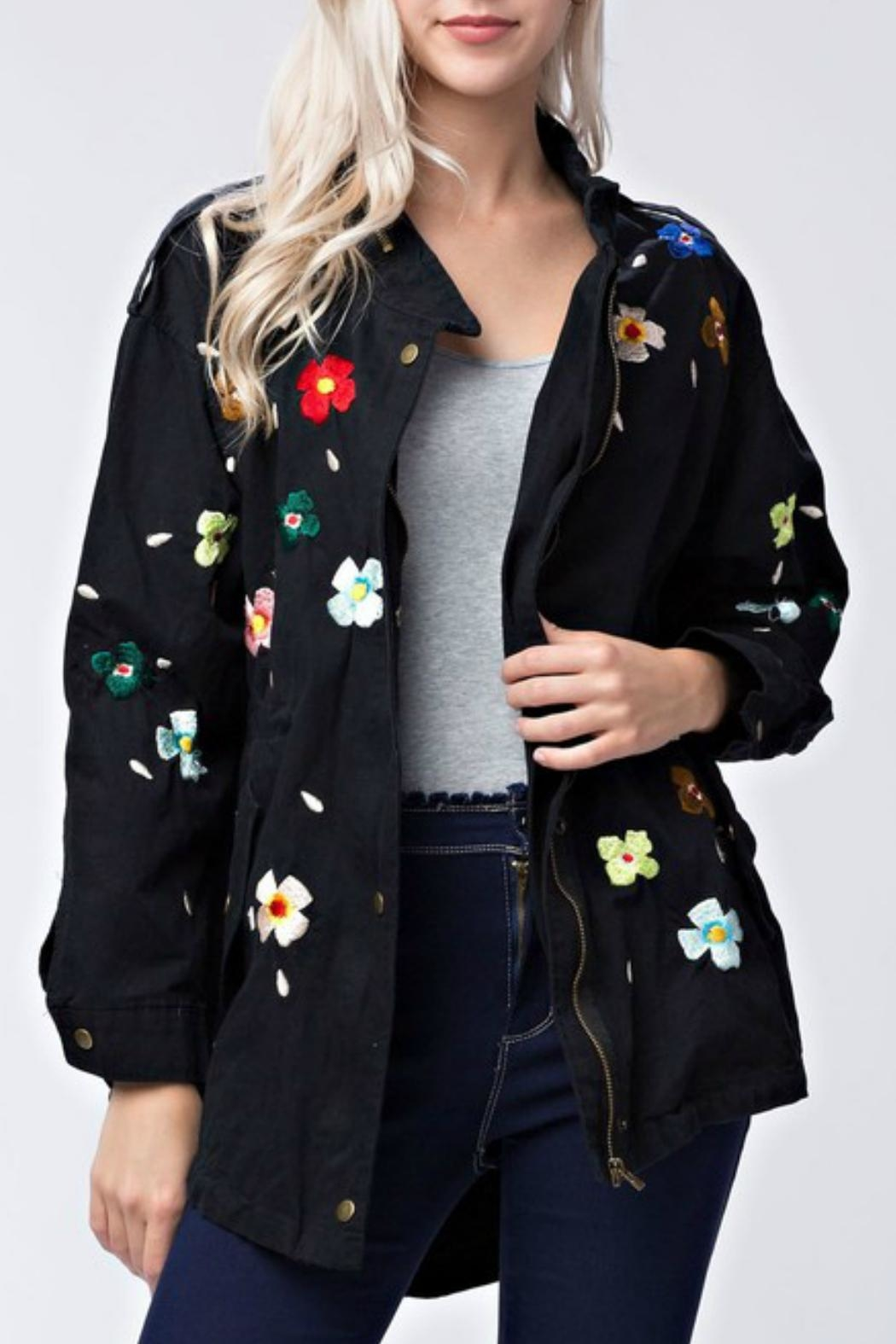 Modern Emporium Floral Embroidery Jacket - Main Image