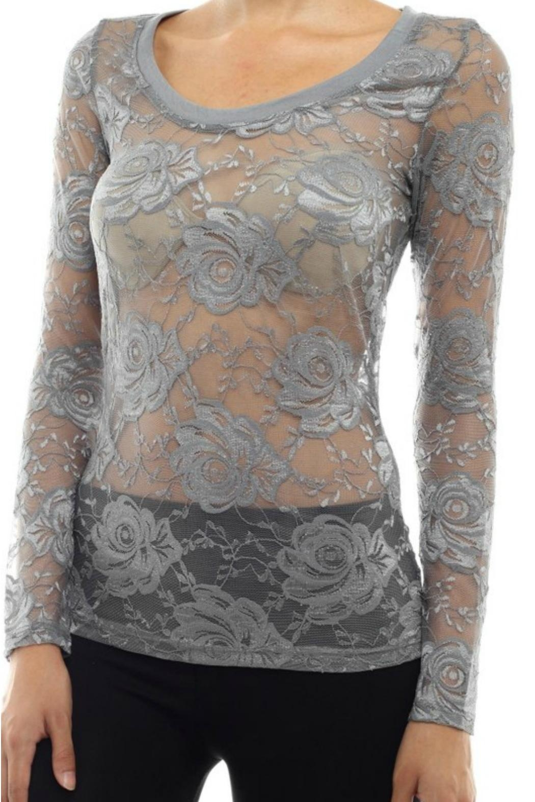 Modern Emporium Hipster Lace Top - Side Cropped Image