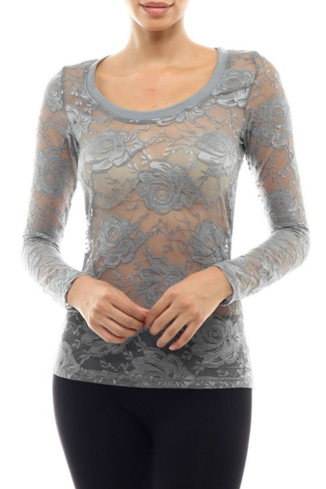 Modern Emporium Hipster Lace Top - Main Image