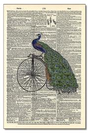 Modern History Collection Peacock Riding Bicycle - Product Mini Image