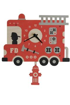 Modern Moose Firetruck Pendulum Clock - Alternate List Image