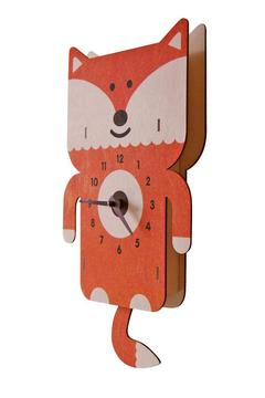 Modern Moose Fox Pendulum Clock - Alternate List Image
