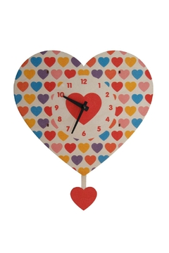 Modern Moose Heart Pendulum Clock - Alternate List Image