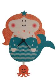 Modern Moose Mermaid Pendulum Clock - Front cropped