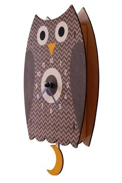 Modern Moose Owl Pendulum Clock - Alternate List Image