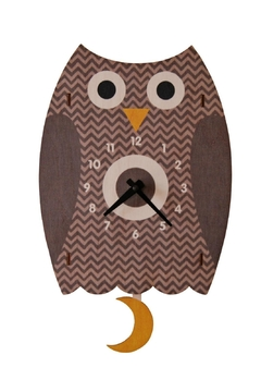 Shoptiques Product: Owl Pendulum Clock