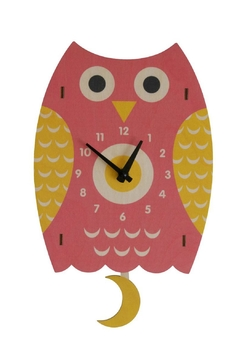 Modern Moose Owl Pendulum Clock - Product List Image