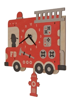 Modern Moose Pendulum Firetruck Clock - Alternate List Image