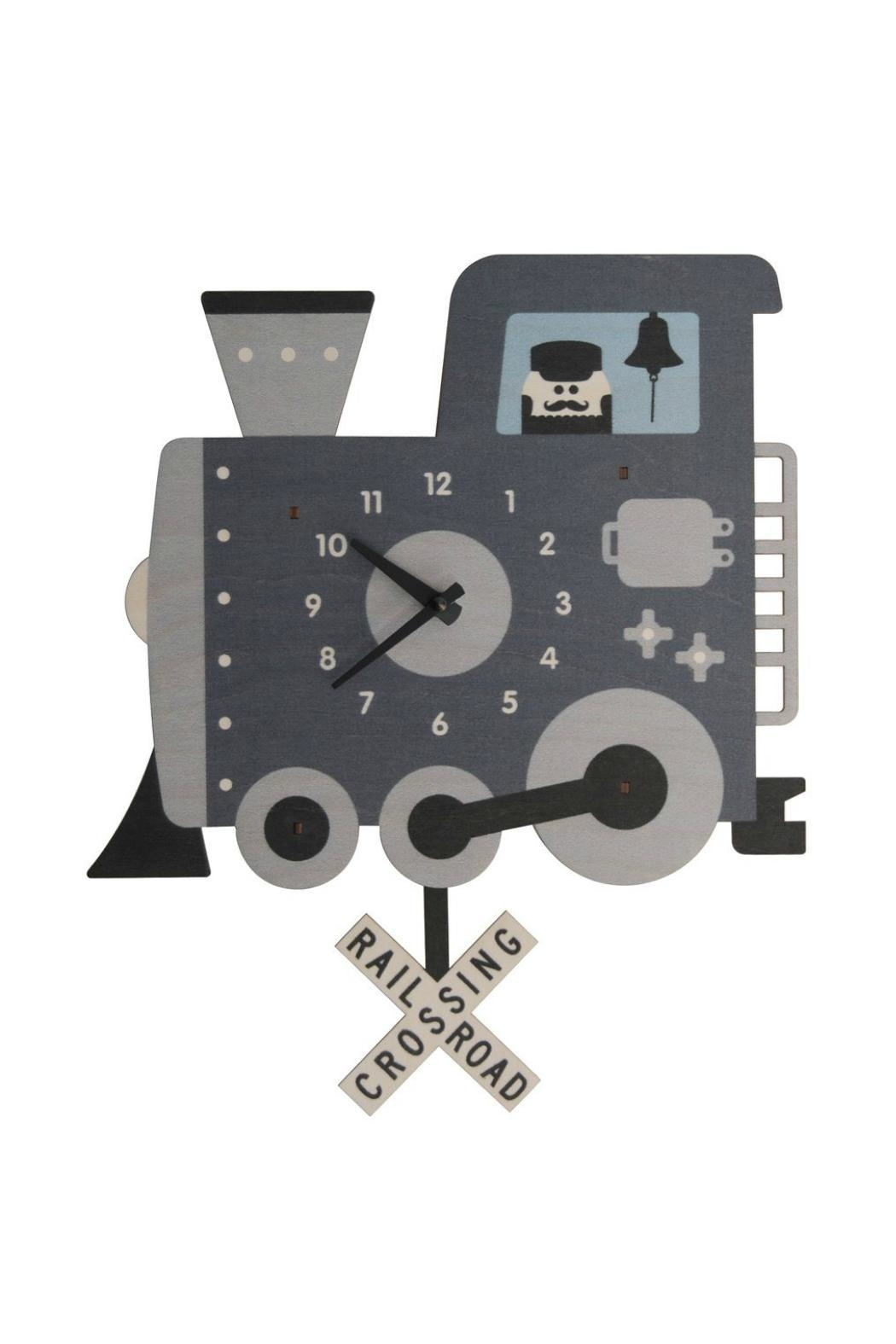 Modern Moose Train Pendulum Clock - Main Image
