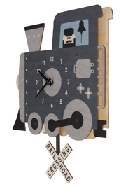 Modern Moose Train Pendulum Clock - Product Mini Image