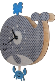 Modern Moose Whale Pendulum Clock - Product Mini Image