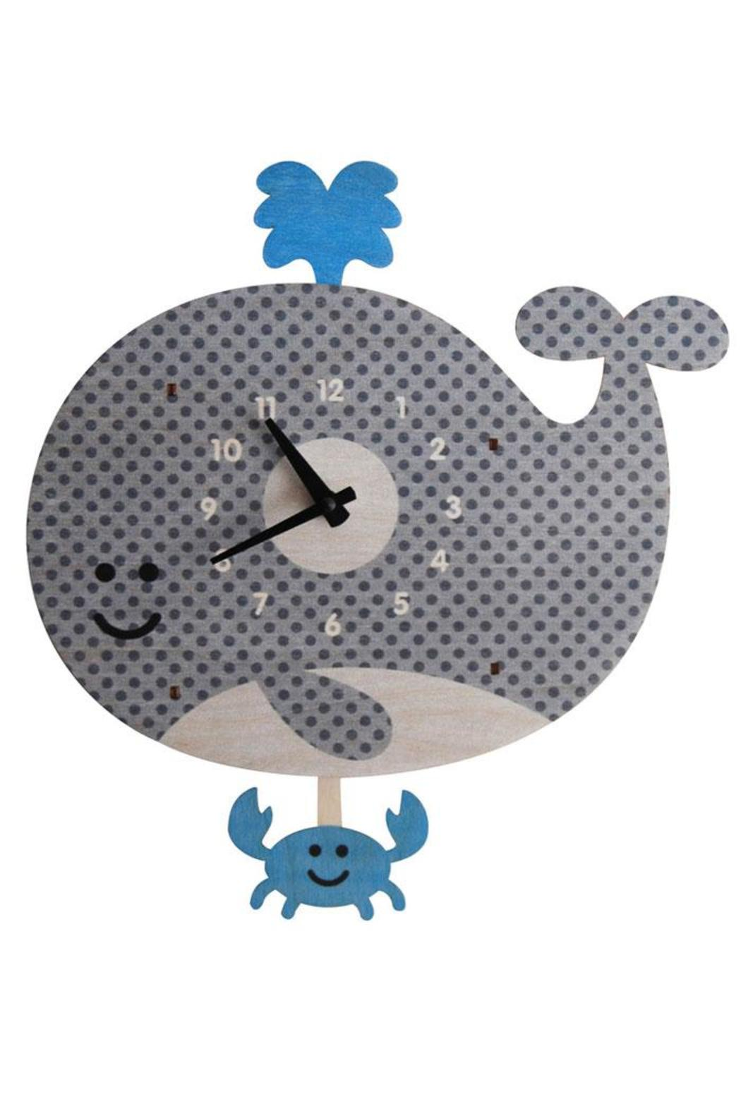 Modern Moose Whale Pendulum Clock - Front Cropped Image