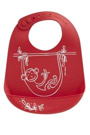 Modern Twist Silicone Monkey Bib - Product Mini Image