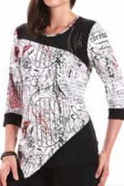 Modes Crystal Fashions Black,white And Red All Over - Front cropped