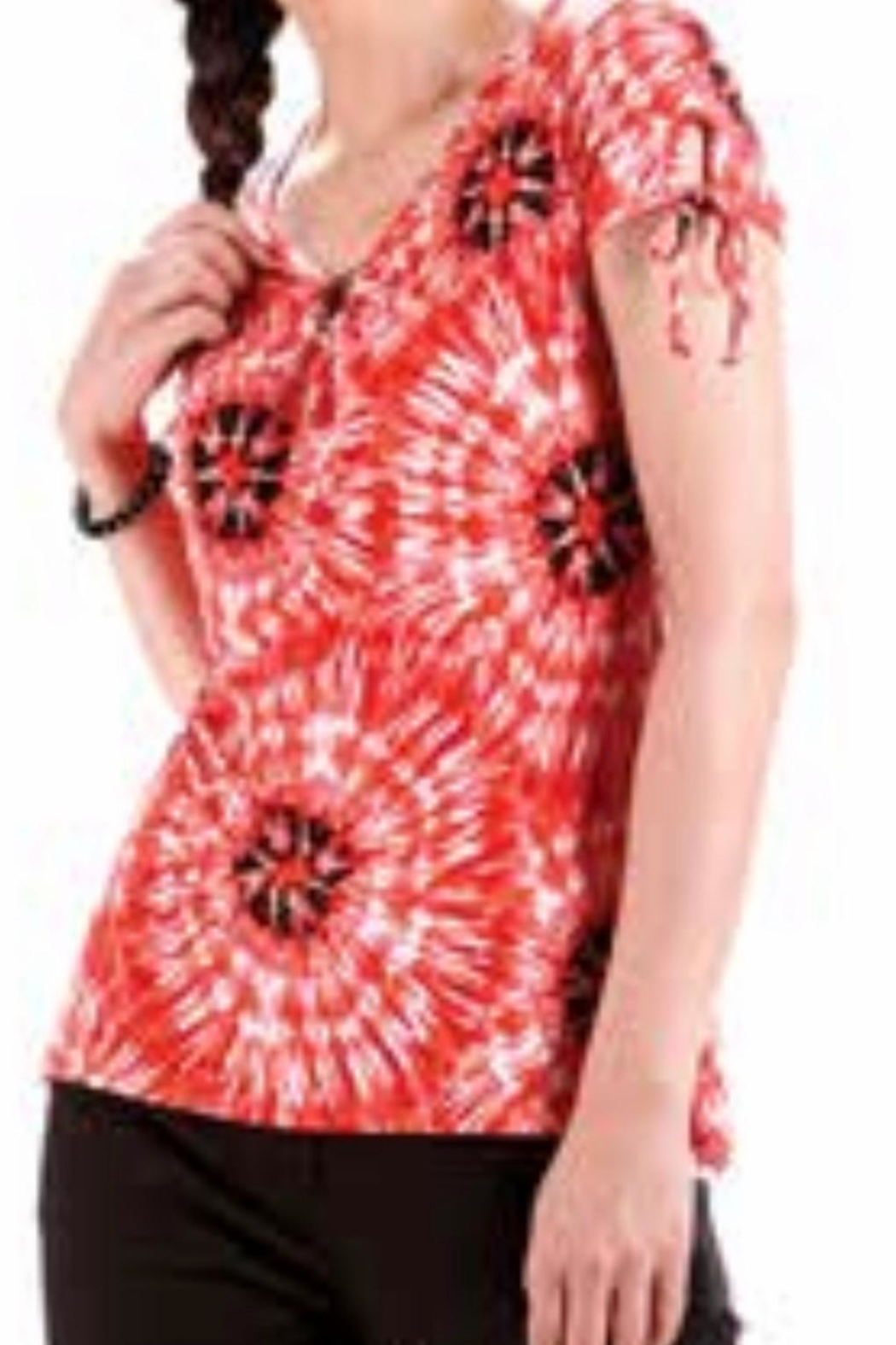 Modes Crystal Fashions Tye Dyed Look Top - Main Image
