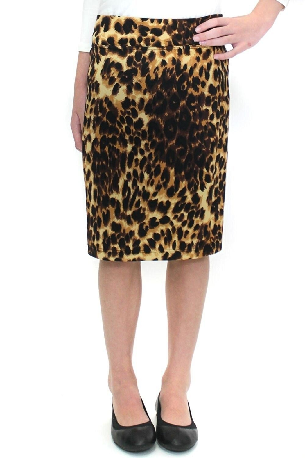 Karen Michelle Modest Pencil Skirt - Front Cropped Image