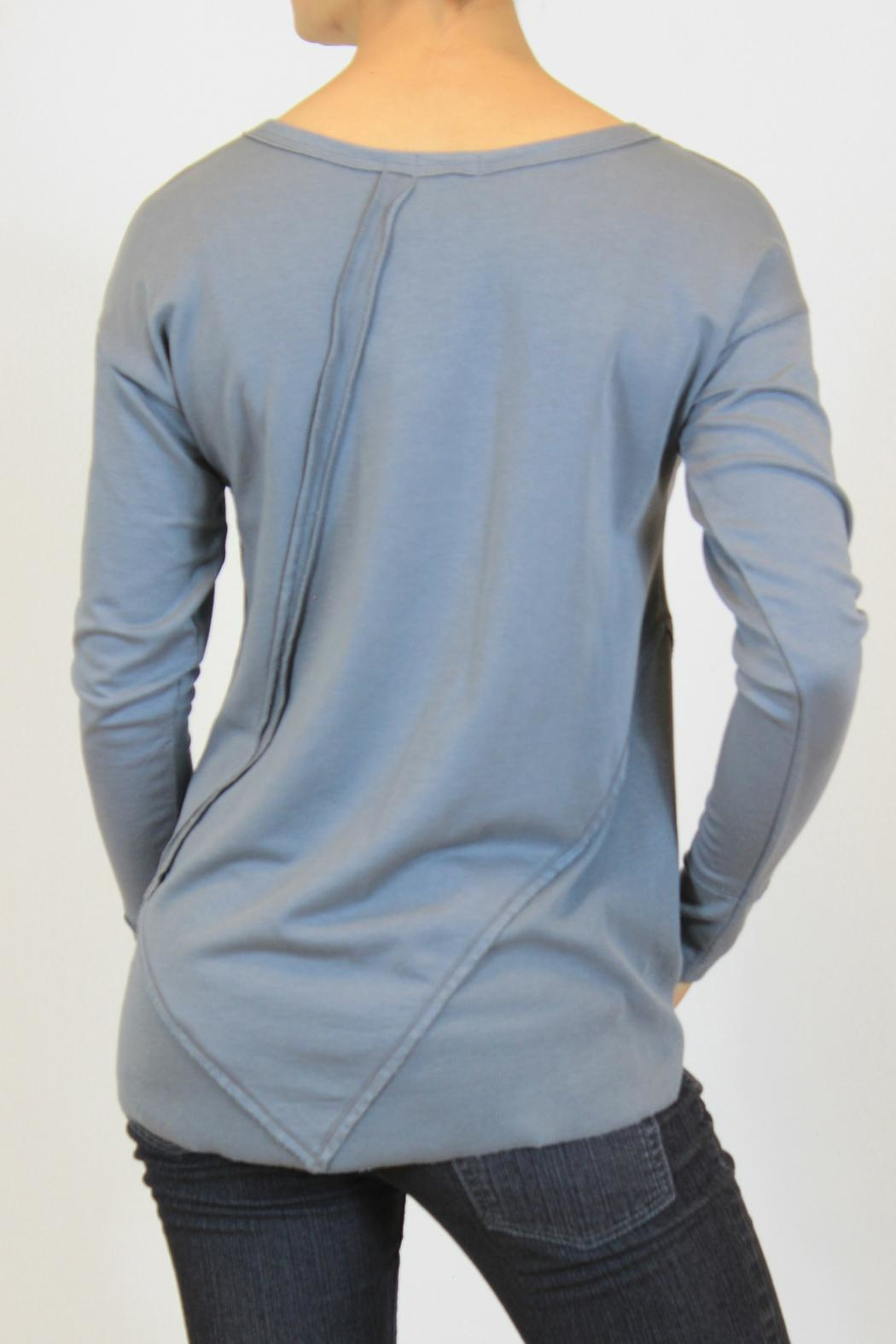 Mododoc Gray Modal Top - Front Full Image
