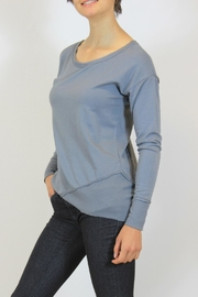 Mododoc Gray Modal Top - Front cropped
