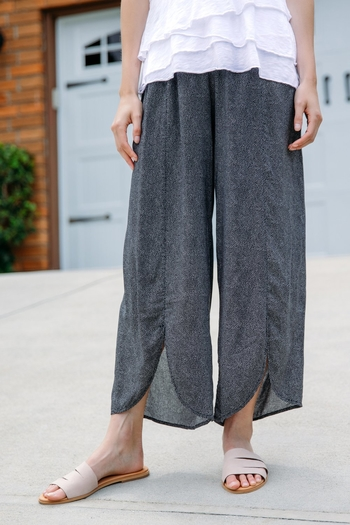 Mododoc Tulip Hem Cropped Pull On Pant from Florida by Denim Dive — Shoptiques